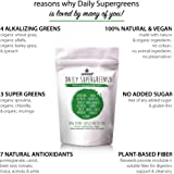 Unived Daily Supergreens Raw Plant-Based Nutrition, Organic Spirulina, Organic Chlorella, Acerola, And Other Alkalizing And Antioxidant Fruits & Vegetables ( Stevia, Lemongrass Flavour, Net Wt. 657g 90 Servings)