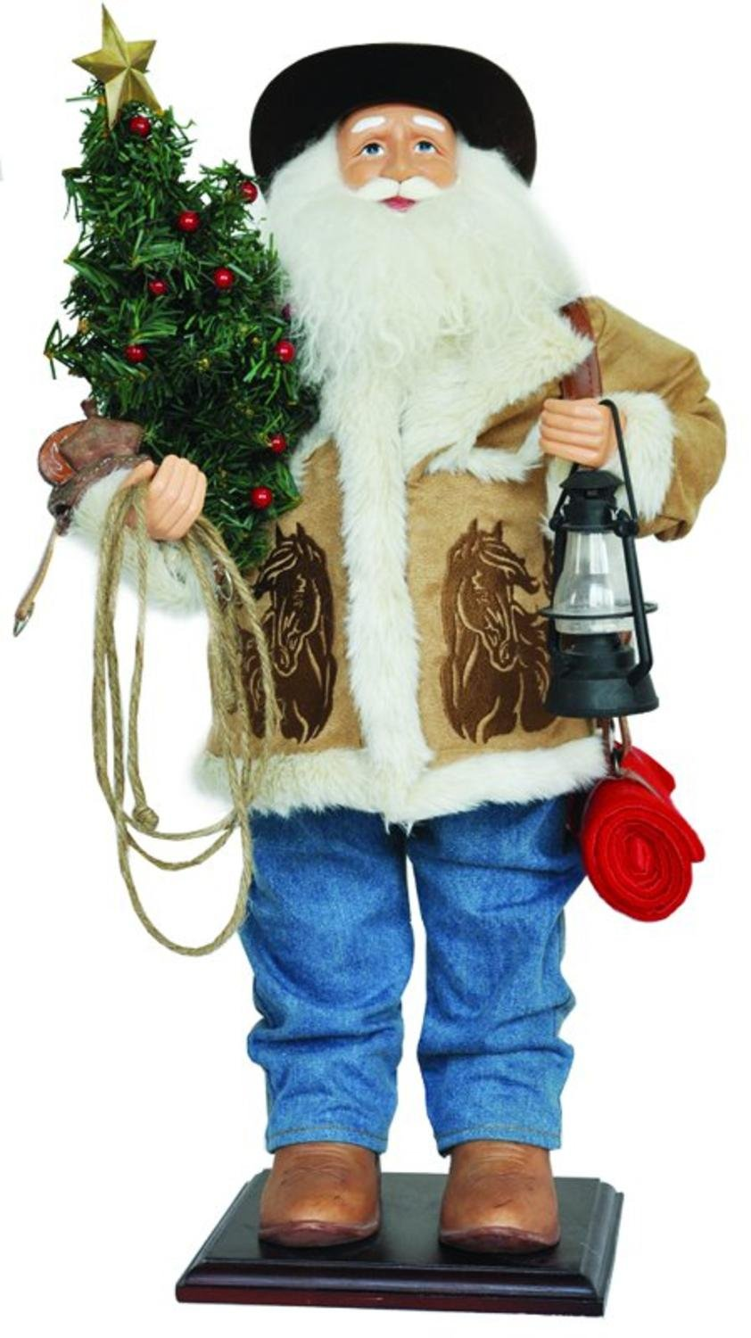 24'' Home on the Range Country Western Cowboy Santa Claus Christmas Figure