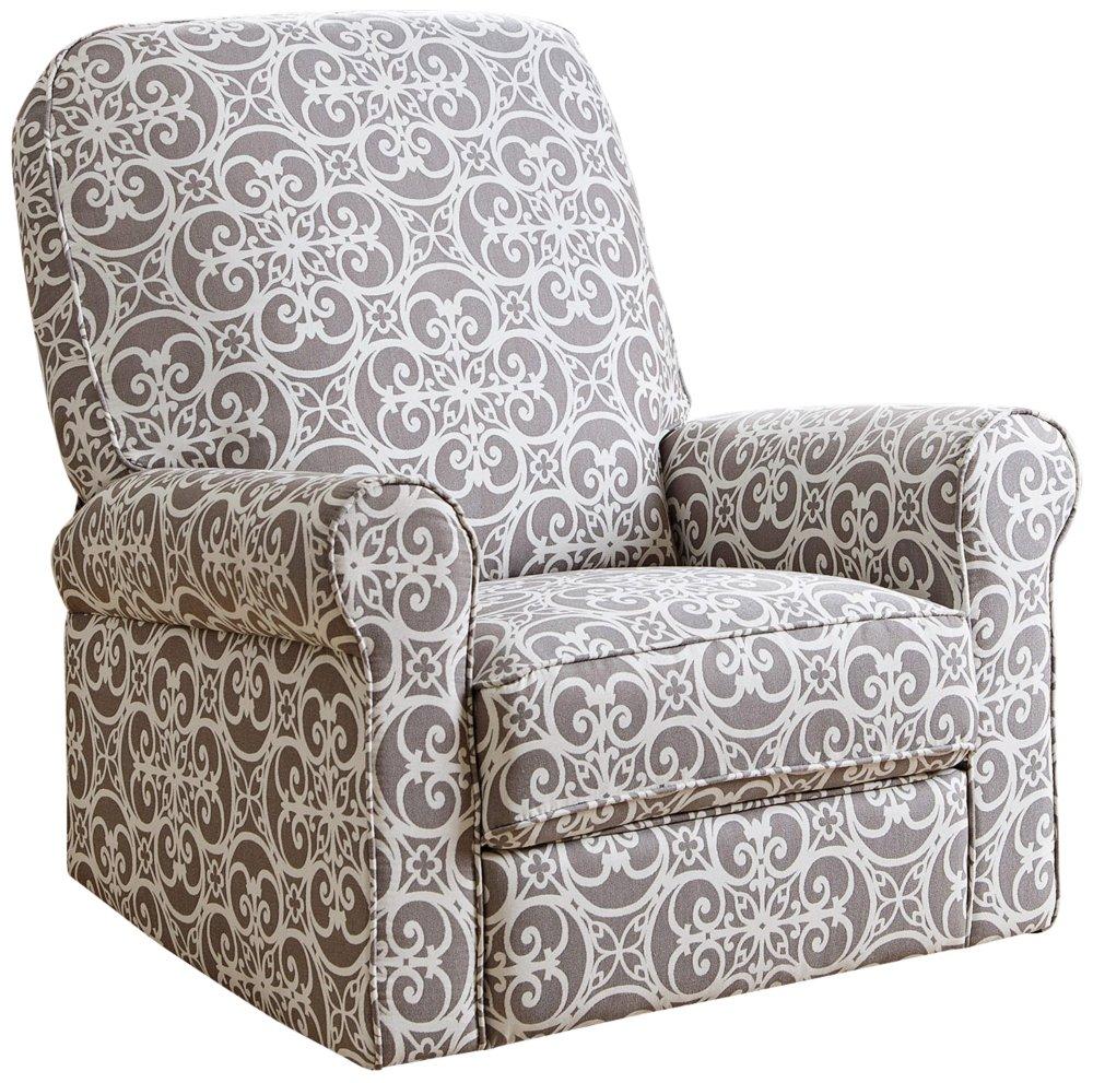 amazon com abbyson living sydney fabric swivel glider recliner