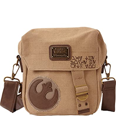 Loungefly The Force Awakens Star Wars Rebel Convertible Crossbody Waist Bag  Tan One Size 1f63995f84fe6