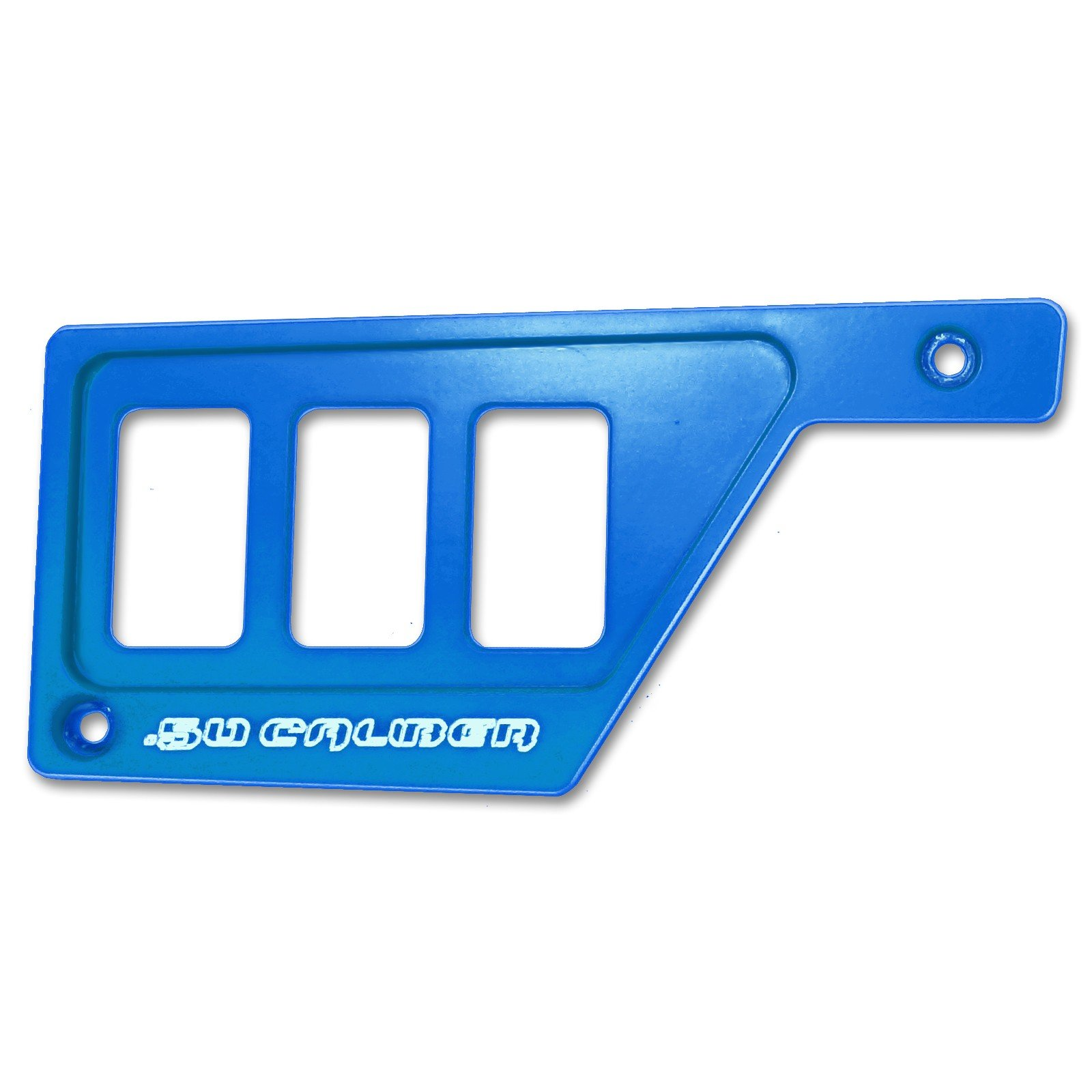 50 Caliber Racing 3 Switch Dash Panel Only LH Left Side Billet Aluminum Blue Powdercoated without Waterproof Illuminated Switch fits RZR XP1000 [5357E13]