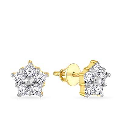 6a6260fdb7afe Buy Malabar Gold & Diamonds 18KT Yellow Gold and Diamond Stud ...