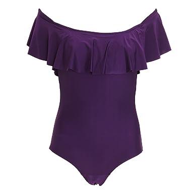 1184f5f8e6 Tom Franks Womens/Ladies Bardot Tummy Control Swimsuit: Amazon.co.uk:  Clothing
