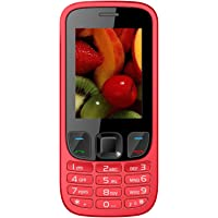 IKALL K6303 Dual SIM Mobile Phone with 1800mAh Battery and 2.4-inch screen (Red)