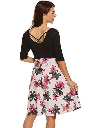 9af040ab48 HOTOUCH Women s Vintage Stripe Junior Dresses (White XXL)  Amazon.co ...