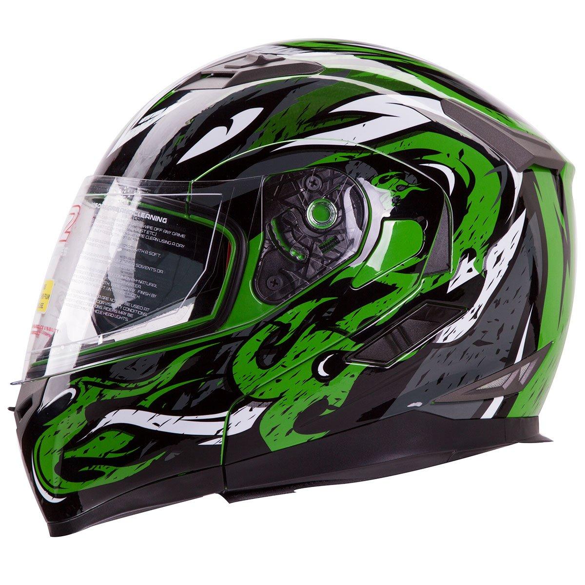 Amazoncom VIPER Modular Dual Visor Motorcycle Snowmobile - Motorcycle helmet decals graphicsmotorcycle helmet graphics the easy helmet upgrade