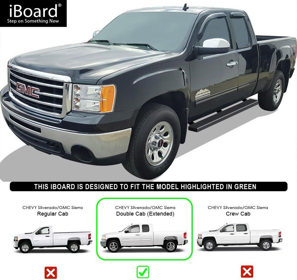 "4/"" iBoard Running Boards Nerf Bars Fit 01-13 Chevy Silverado//GMC Sierra Crew Cab"