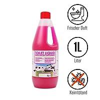Toilettenzusatz 1 Liter für Camping Toiletten Spülkasten frischer Duft ideal für Wohnwagen, Wohnmobil und Boot