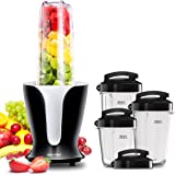 Comfee 900W High Speed Professional Blender with 4 Sizes BPA Free Tritan Portable Sport Blender Bottles(32oz/24oz/18oz/12oz) and 4 Travel Lids. Personal Blender for Smoothies, Shakes, and Baby Food
