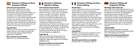 Amazon.com: Vitamin C 500mg with Rosehip 400mg   360 Tablets   Immune Joints Skin Gums   100% money back guarantee   Manufactured in the UK: Health ...
