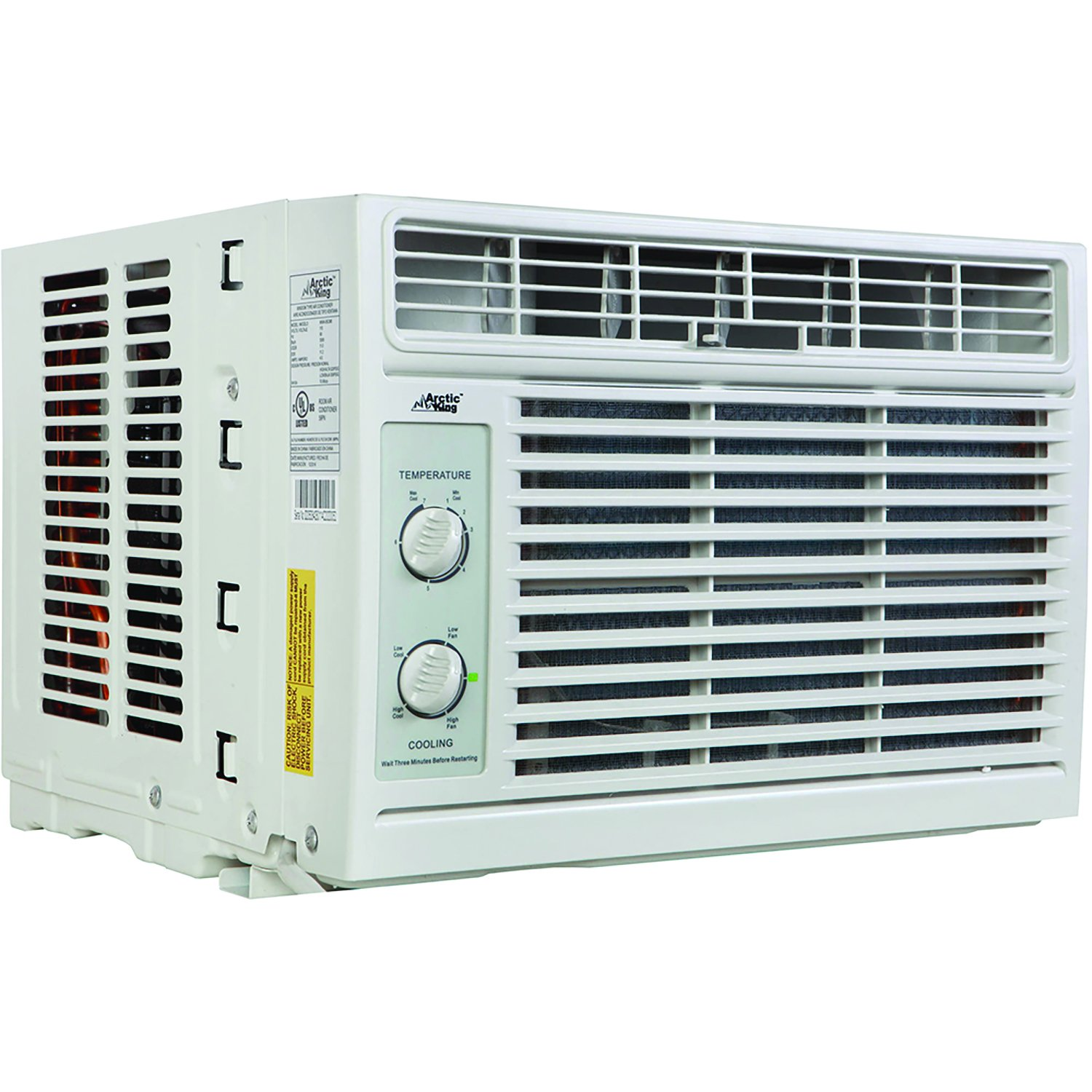 Arctic Wind King 5000 Btu Window Air Conditioner With Emerson Large Artic Mechanical Controls Home Kitchen