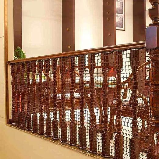XIAOYAN- Red de Seguridad Escaleras Protección Inicio Balcón for niños Jardín de Infantes Red anticaída Malla de Cuerda de Nylon Tamaño Personalizado (Color : Brown, Size : 0.8 * 7m): Amazon.es: Hogar