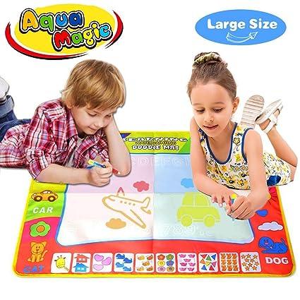 Joy-Jam Regalos para Niñas 2-3 Años Aqua-Doodle Pinturas para Niños Pizarra Magica Estera 80*60cm Juguetes para Niños 2-5 Años Juegos Bebe Dibujo ...