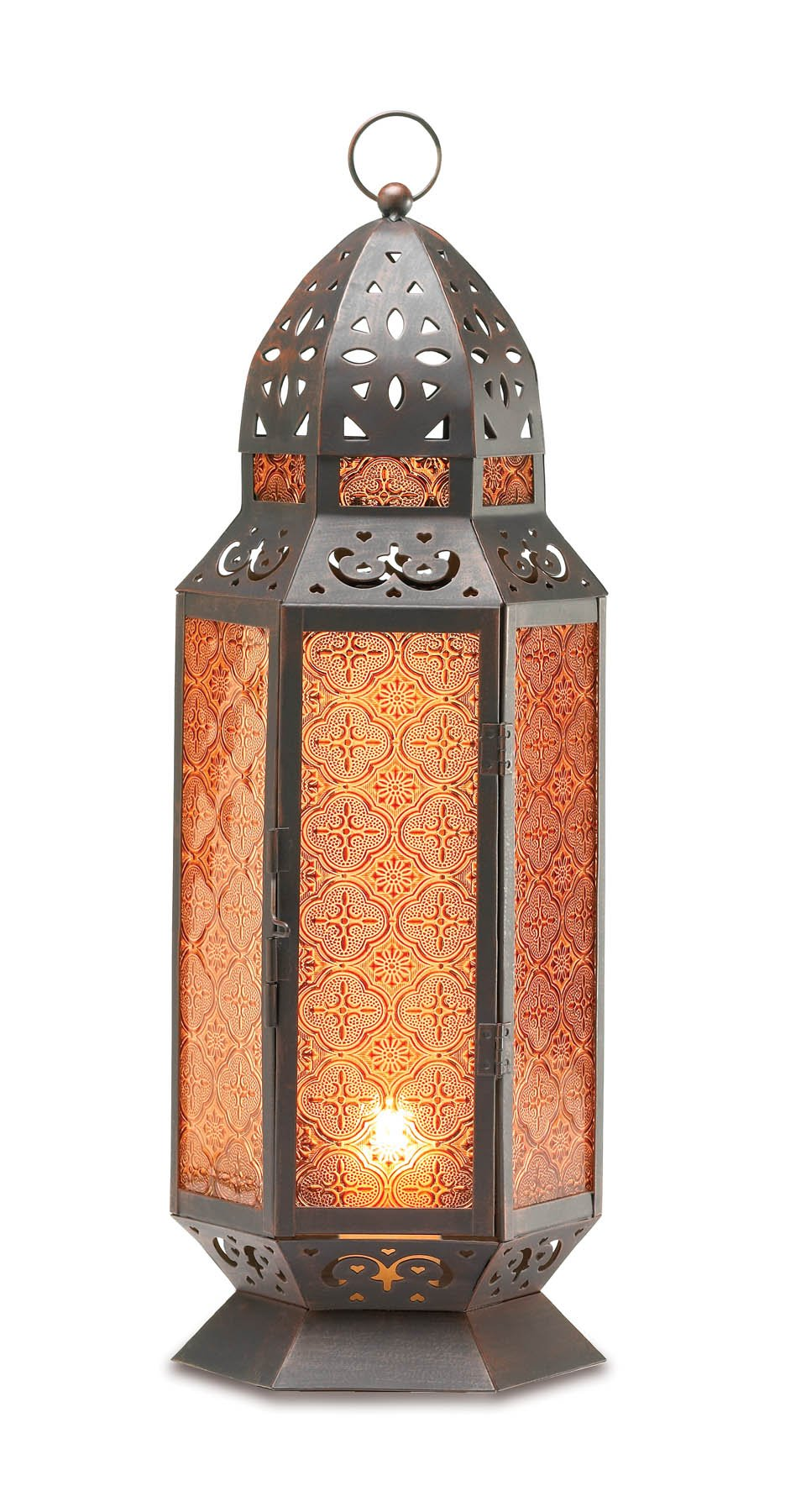 Gifts & Decor TALL MOROCCAN-STYLE CANDLE LANTERN by Gifts & Decor