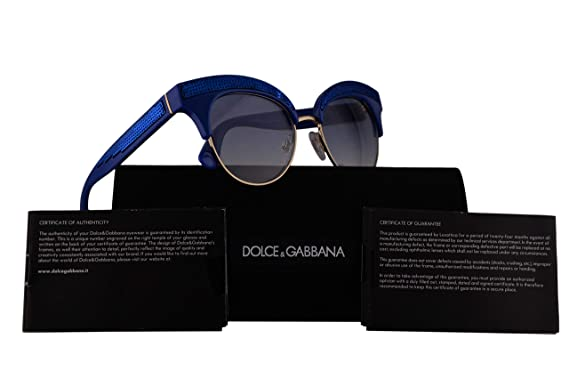 b17bd5d6bbc2 Image Unavailable. Image not available for. Color: Dolce & Gabbana DG6110  Sunglasses Blue w/Blue ...