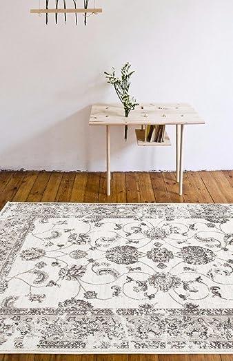 4535 Distressed Cream 7'10×10'6 Area Rug Carpet Large New
