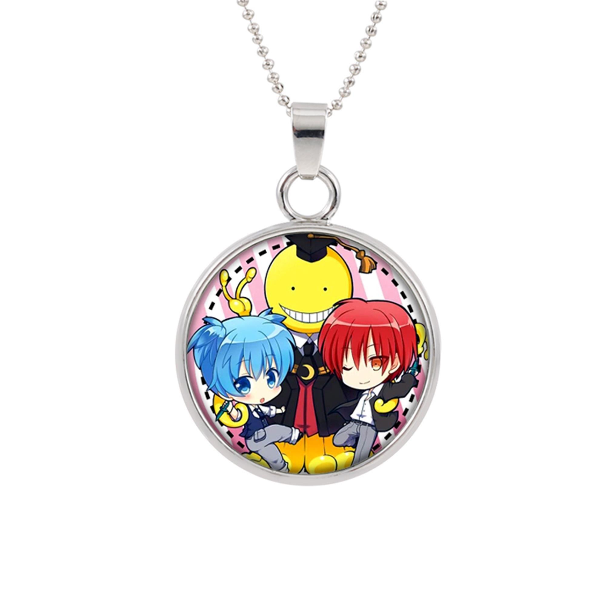 Assassination Classroom Pendant Necklace Anime Manga TV Comics Movies Cartoon Superhero Logo Theme Premium Quality Detailed Cosplay Jewelry Gift Series