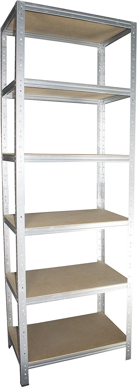 Ordnerregal Shelf Creations Basic Schwerlastregal verzinkt 90 x 40 x 60 cm mit 3 B/öden Stecksystem aus Metall verzinkt: Metallregal geeignet als Kellerregal Archivregal Werkstattregal Lagerregal