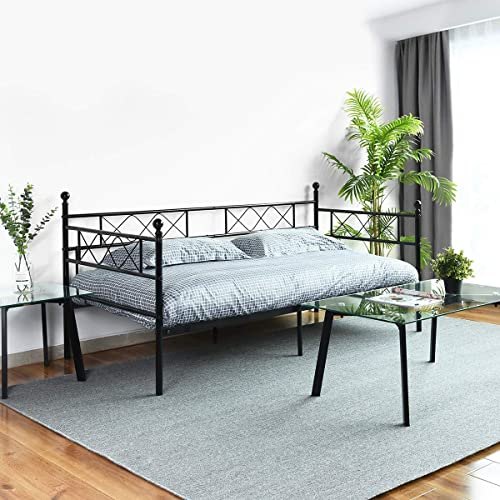 Symylife Metal Twin Daybed Twin Bed Frame