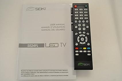 Amazon Com Seiki Se24fl Tv Remote Control And User Manual 20408 Home Audio Theater