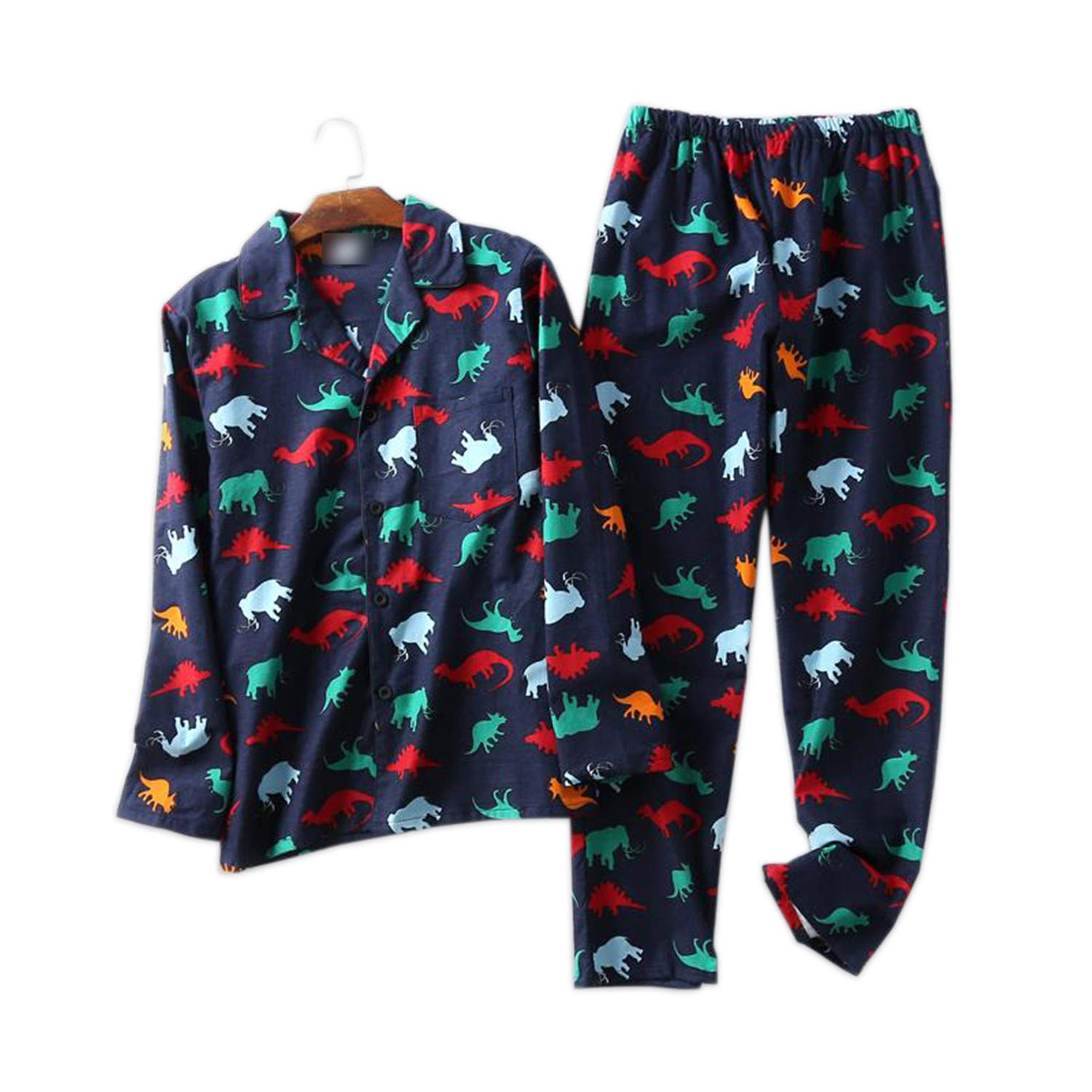 Thadensama 100% Cotton Dinosaur Pajamas Sets Mens Sexy Plaid Casual Sleepwear for Male Pyjamas Pijama Hombre Mens Cartoon Pajamas 4Pb XL at Amazon Mens ...