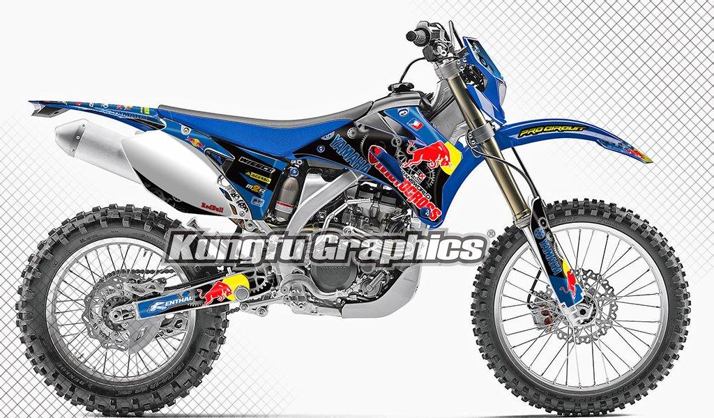 KUNGFU GRAPHICS(カンフー グラフィックス) motocross モトクロス バイク用ステッカーデカール キット 2007 2008 2009 2010 2011 2012 2013 2014 ヤマハ YAMAHA WR250F 専用 2007-2014 WR250F Style 012 B07NWBYFV2