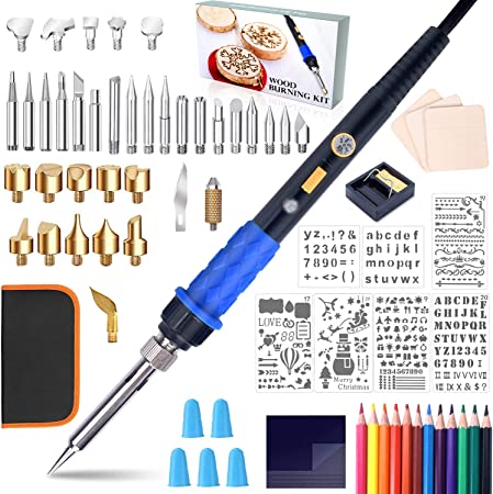Color : US Plug with Pen Tip Letter Plug Electronic Welding Tool YZB Welding Repair Tool Wood Burning Thermal Imaging Pen Kit Tool 60W Adjustable Temperature