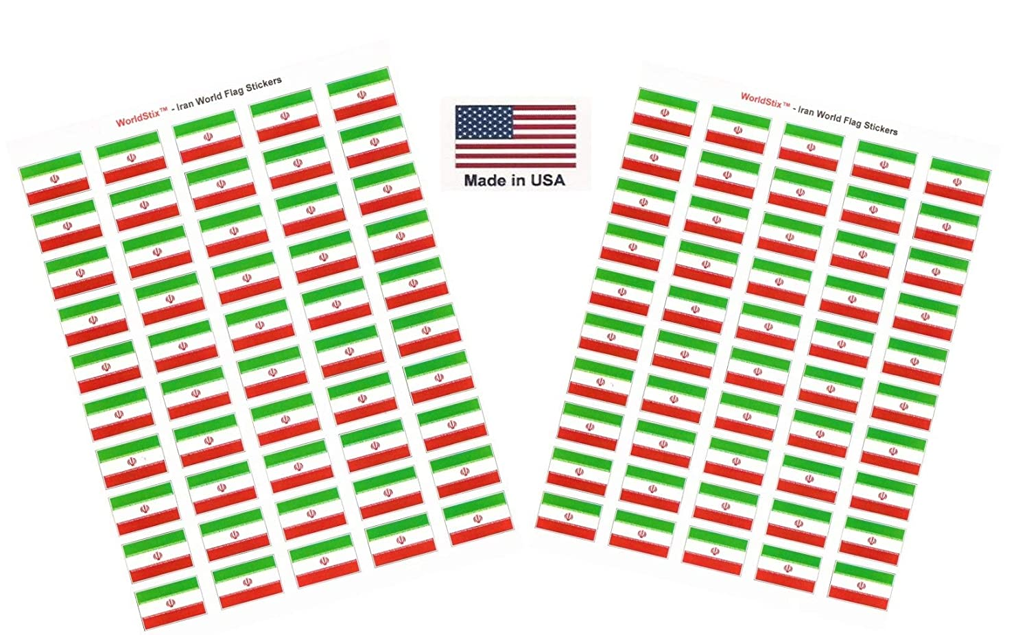 100 International Sticker Decal Flags Total 100 Country Flag 1.5 x 1 Self Adhesive World Flag Scrapbook Stickers Two Sheets of 50 Italy Made in USA