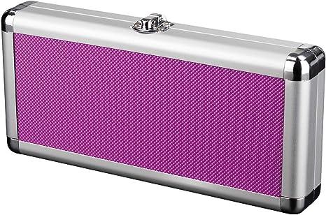 Zzapit estuche metálico de aluminio para transporte y almacenamiento - púrpura (Nintendo Switch): Amazon.es: Videojuegos