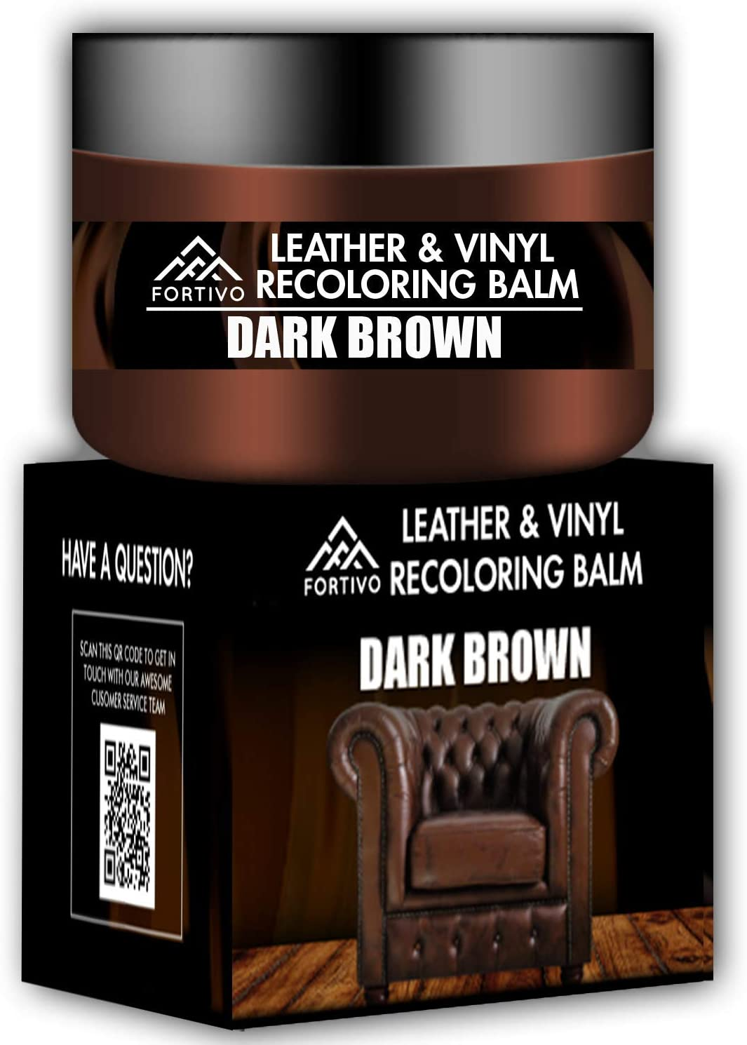 Balsamo acondicionador restaurador de cuero Dark Brown