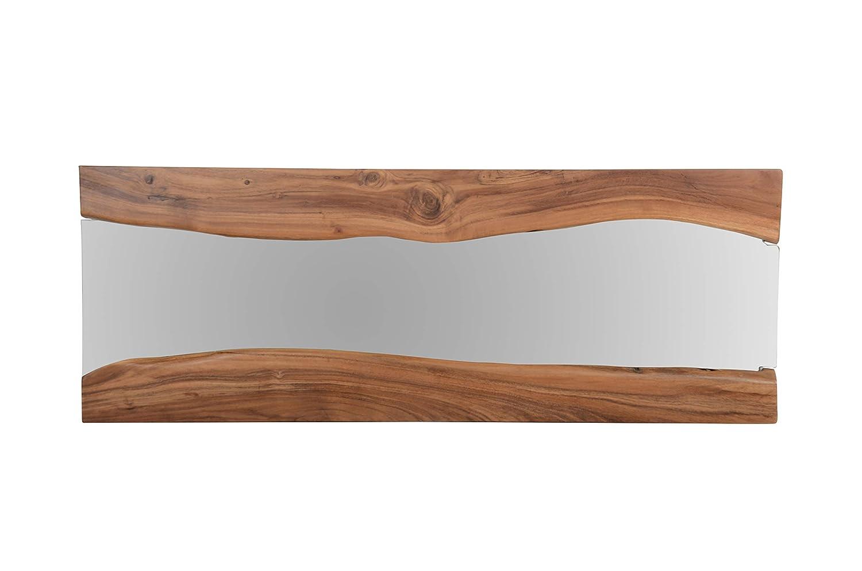 The Wood Times Wandspiegel 'Jamgal', Holz, Braun, 120x3x45cm