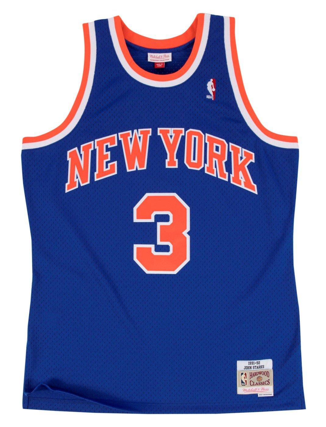 99e7d70581c Mitchell & Ness John Starks 1991-92 New York Knicks HWC Blue Swingman Jersey