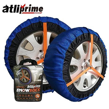 atliprime 2pcs antideslizante seguridad cadenas de nieve cadenas de nieve hielo barro neumáticos auto tela cadenas