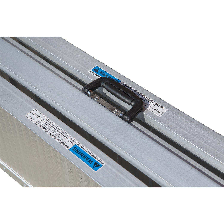 HomCom 8' Folding Portable Suitcase Mobility Wheelchair Threshold Ramp by HOMCOM (Image #6)