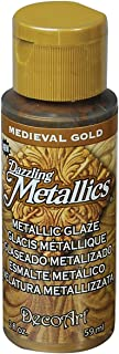 product image for DecoArt Dazzling Metallics Glazes Paint, 2-Ounce, Medieval Gold