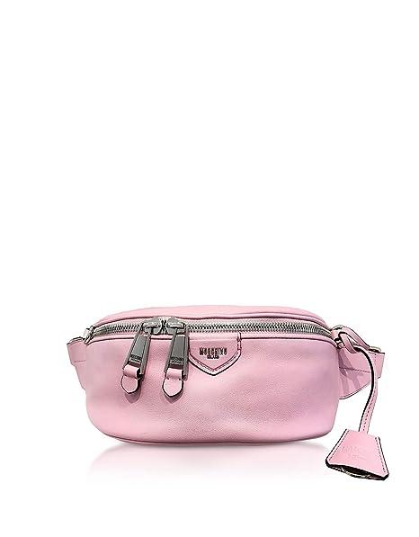 Moschino Mujer A771280060221 Rosa Cuero Bolso De Viaje