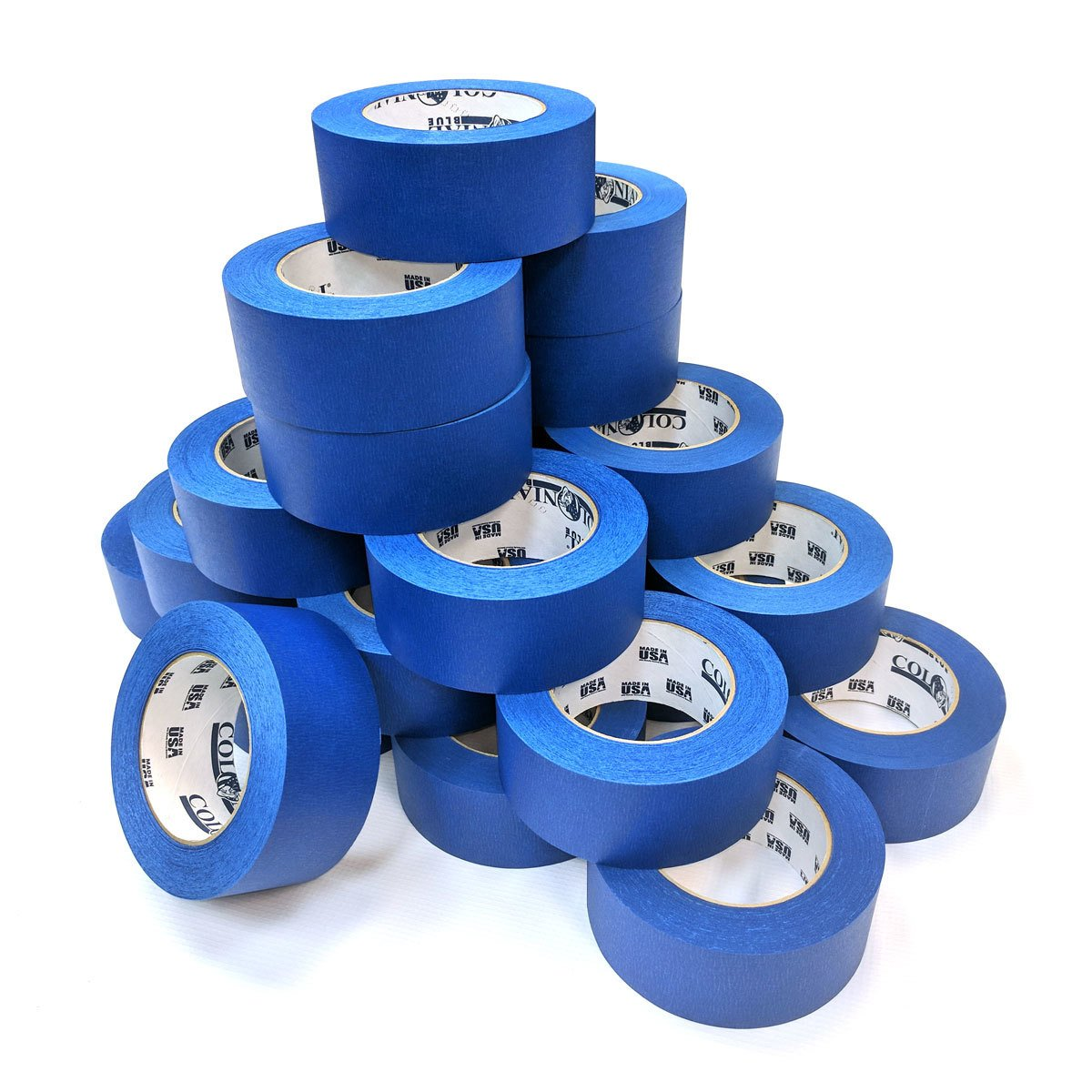 Case of 24-2 Inch Blue Painters Tape - 60 Yards/roll by JAK Industrial