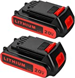 2 Pack LBXR20 2.5Ah Replacement Battery for 20V Black and Decker