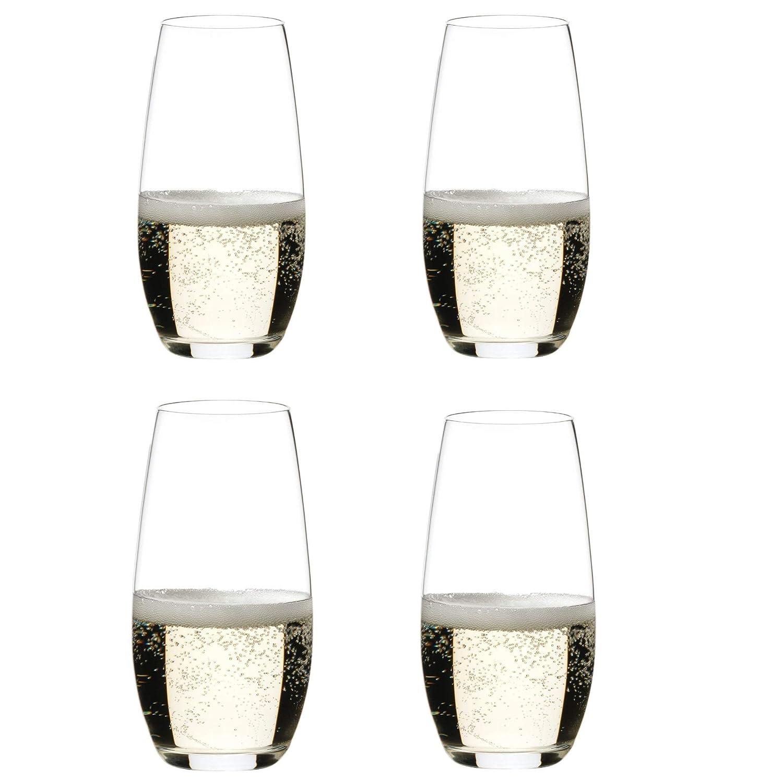 2a3e2a63f2a Amazon.com | Riedel O Wine Tumbler Champagne, Set of 4: Champagne Glasses
