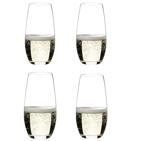 51e7edb1879 Amazon.com | Riedel O Wine Tumbler Champagne, Set of 4: Champagne Glasses