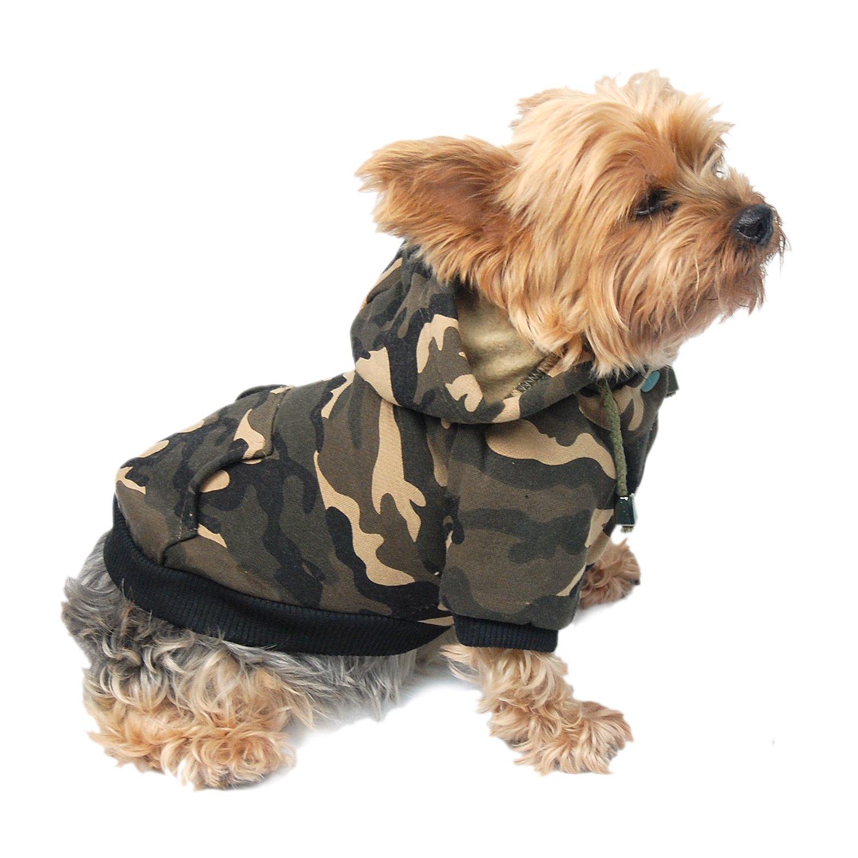 Anima Dog and Pet Hoodie Sweatshirt, X-Small, Camo Green by Anima (Image #3)