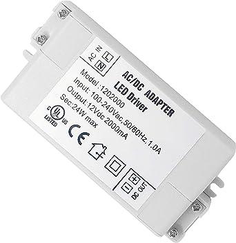 Alimentation /à commutation r/égul/é CC AC universelle pack de 2 VARICART Alimentation LED IP44 24V 1A 24W adaptateur transformateur de tension constante pour bande lumineuse G4 MR11 MR16 GU5.3