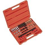 Ctooltool Universal 42Pcs Thread Chaser Set, Rethread Repair Tool, Fractional and Metric Thread Restorer Kit