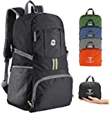 Packable Travel Hiking Backpack Daypack, Ultra Lightweight 35L Large Capacity Water Resistant Hiking Daypacks with Reflective Stripe Foldable Travel & Camping Backpack Casual Daypacks for Men & Women