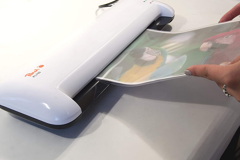 DIN A4, lista en 3-5 minutos, 2 x 125 mic, 250 mm//min, incluye 25 l/áminas de plastificado, plastificadora en caliente Peach PL707 Home Office Plastificadora