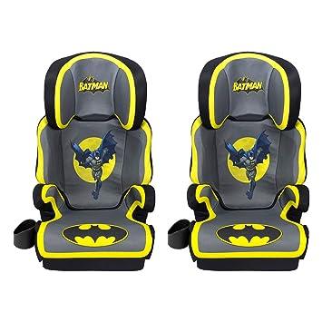 Kids Embrace DC Comics Batman High Positioning Back Toddler Booster Car Seat 2 Pack