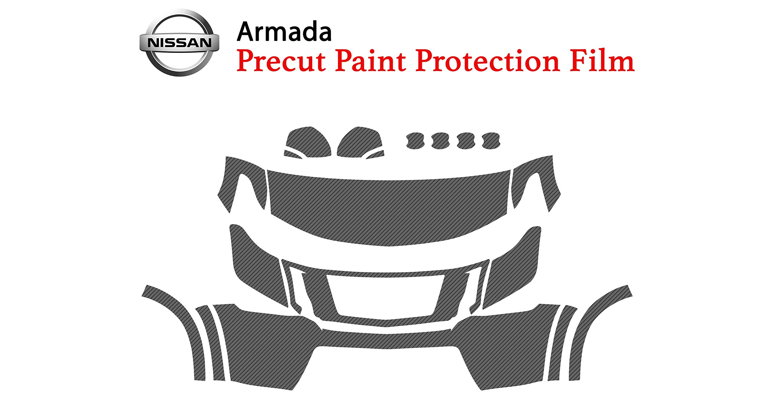 The Online Liquidator Precut Clear Bra Paint Protection Film Kit fits Nissan Armada 2017-2019 - Full Front Vinyl Wrap Surface Safeguard Armor Cover