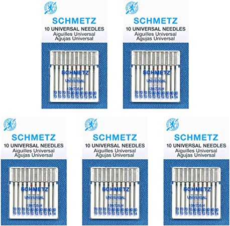 Schmetz 130x705E Embroidery Machine Needles Assorted Pack of 5