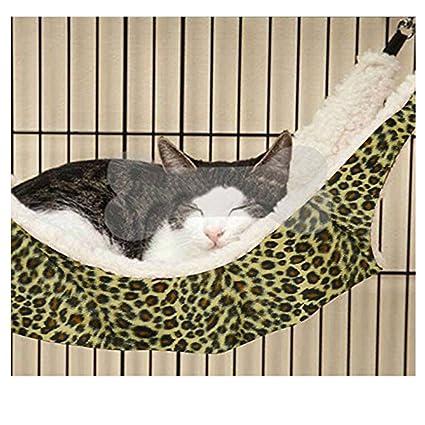 Humor Cat Supplies Pet Cat Hammock Soft Faux Fur Bed Animal Hanging Dog Cat Cage Comfortable Ferret Cat Beds & Mats