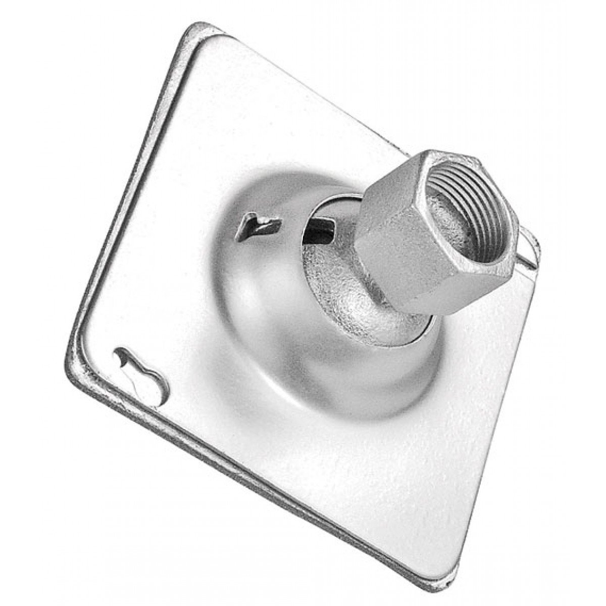 2 Pcs, Zinc Plated Steel 4 In. Square Weatherproof Swivel Fixture Hanger Cover w/Gasketed Cover for 1/2 In. Or 3/4 In. Pipe